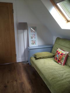 Sofa bed upstairs