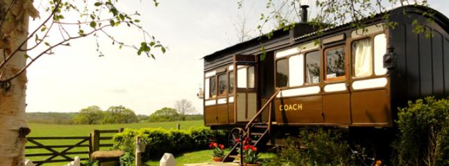 The camping coach is 130 years old and was owned by the London Brighton & South West Railway