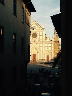 view of Santa Croce Church from our door