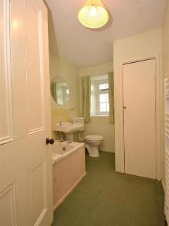 The upstairs bathroom