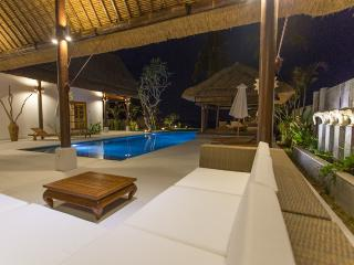 Lounge area at the pool