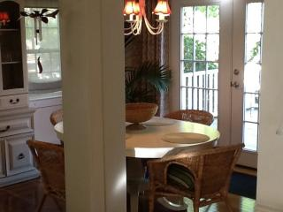 Dining area With French doors leading out to deck