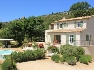 Le Chene, set in a garden of lavender and olive trees walking distance to the village