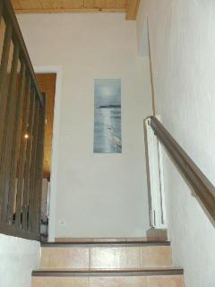 Escalier vers le 1er étage et les chambres
