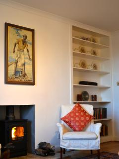 The wood burning stove in the living room makes it very warm and cosy!