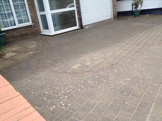 Driveway for two to three cars.