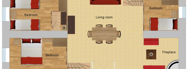 Plan of the lofts - Bedrooms