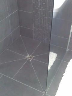 Showering area