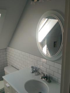 Newly renovated second floor bathroom