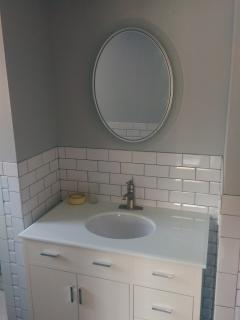 Newly reno first fioor bathroom