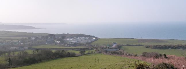 Bwthyn Nefyn is the detached cottage slightly to the right of the centre of this photo