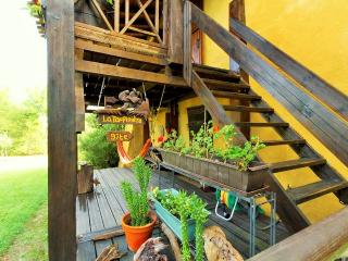 Stairs to get to your terrace and cottage
