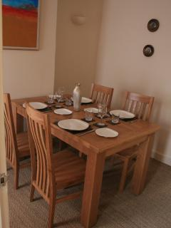 Dine in!. Seating for 4 and everything you need for a relaxing meal! (Except the food!)