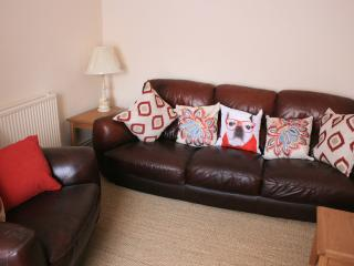 Relax in comfort. Flat screen freeview TV, and a selection of DVD's