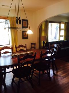 the dining room from the kitchen