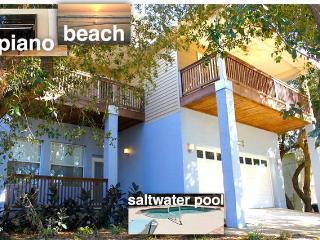 Green Modern newer beach house with private heated pool, Saint Augustine Beach