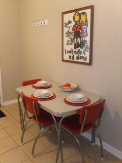 Cute vintage dining nook!
