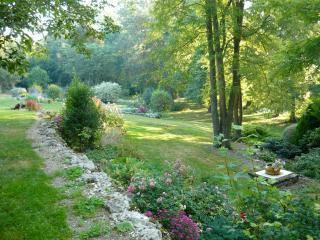 Au fond du jardin coule une rivière.