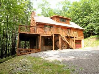 High Adventure  is a multi-level home in a private wooded setting.