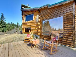 Authentic dog-friendly cabin with modern amenities on five acres!