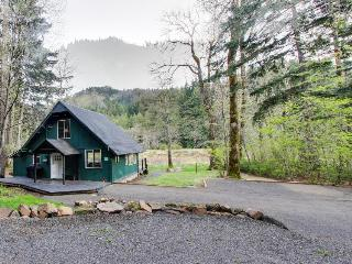 Modern waterfront cabin w/ river access & great views surrounded by nature, White Salmon