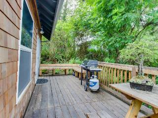 Family fun awaits at this dog-friendly oceanview home with patio