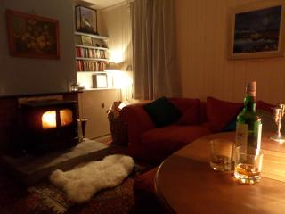 Sitting room with your favourite dram and warm fire.