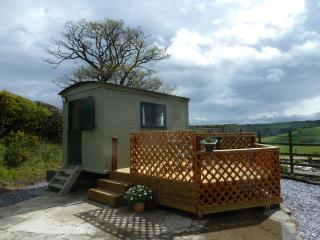 Each hut has a decking area to make the most of the fantastic views