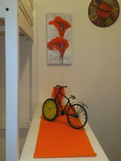 Bike on the locker. :)