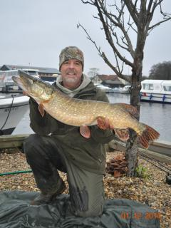18lb plus pike caught by previous guests just yards from the cottage.