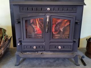 Real log woodburner