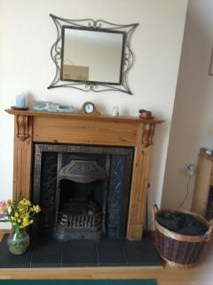 Fireplace. Lovely in the evenings when burning Irish turf!