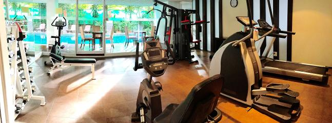 Gym with brand-new equipments