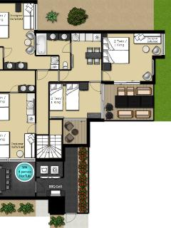 Floor plan Baddely, Irwin & Couples Suites