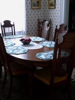 the formal dining room,