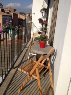 Vistas desde el balcón trasero para disfrutar del sol