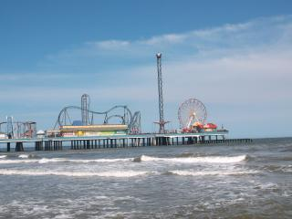 Pleasure Pier across the street