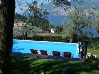 Malcesine 1 bed apartment with pool and lake views