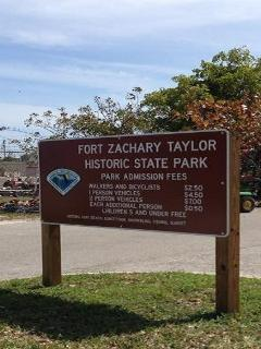 Fort Zackary Taylor, great state park right next to the townhouse, great state park and beach