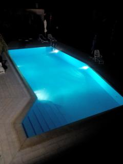 Villa  Katiana pool at the night
