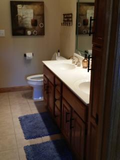 Master Bath #1 double  vanity and huge linen cabinet and clothing closet.