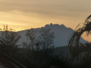 Mt Kinabalu sunrise, only an hour's drive away.