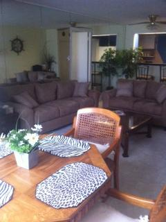 Updated couch and loveseat - 5/22/15 (sleeps 1 child and 1 adult)