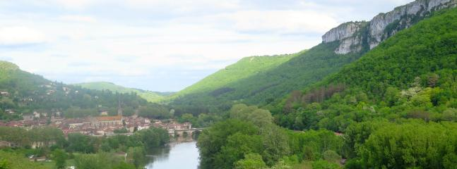 a view along the gorge and the village
