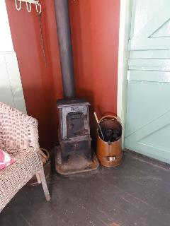 A wood burner to keep you very warm in cool weather.
