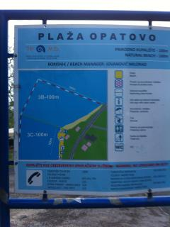 Opotavo beach location of villa xx