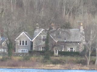 Lochview and Lochearnside B and B from the opposite bank of the loch.