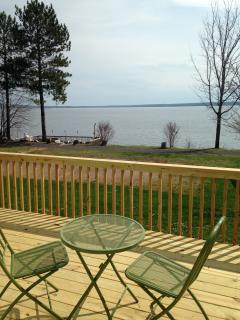 View from this cabin to the lake.