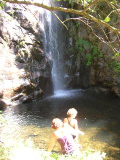 Our local waterfall, an adventurous and rewarding dip in the high heat of summer.