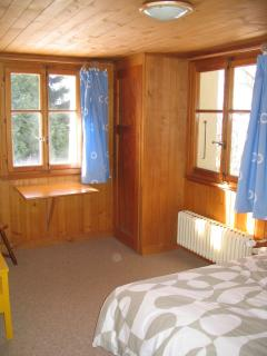 Downstairs adult room with double bed